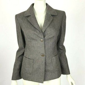 Joseph Italy Wool Cashmere Button-Down Blazer Long